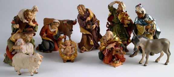 Nativity from Italy by Costa Wood Art
